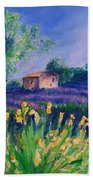 Provence Yellow Flowers Bath Towel
