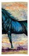 Psychedelic Blue Bath Towel