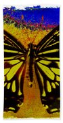 Psychedelic Butterfly Bath Towel
