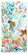 Psychedelic Goddess With Toads Bath Towel