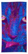 Psychedelic Kitty Bath Towel