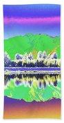 Psychedelic Mirror Lake New Zealand 3 Bath Towel