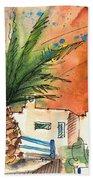 Puerto Carmen Sunset In Lanzarote Bath Towel