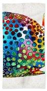 Puffer Fish Art - Puff Love - By Sharon Cummings Hand Towel