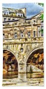 Pulteney Bridge Bath Bath Towel by Paul Gulliver