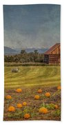 Pumpkin Field Moon Shack Bath Towel