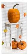 Pumpkins For Thanksgiving Bath Towel