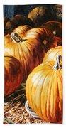 Pumpkins In The Barn Bath Towel