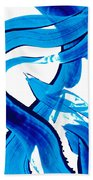 Pure Water 302 - Blue Abstract Art By Sharon Cummings Bath Towel