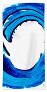 Pure Water 312 - Blue Abstract Art By Sharon Cummings Bath Towel