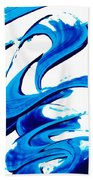Pure Water 314 - Blue Abstract Art By Sharon Cummings Bath Towel
