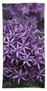 Purple Allium Bath Towel