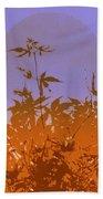 Purple And Orange Haiku Bath Towel