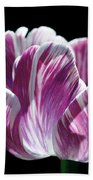 Purple And White Marbled Tulip Bath Towel