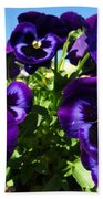 Purple Blooms Bath Towel