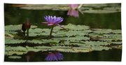 Purple Blossoms Floating Bath Towel