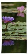 Purple Blossoms Floating Bath Towel