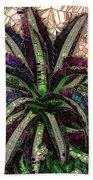 Purple Cactus II Bath Towel