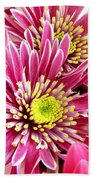 Purple Chrysanthemum Bath Towel