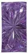 Purple Crystal Gem Bath Towel