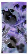 Purple Flower Abstract  2 Bath Towel