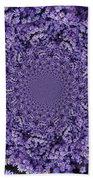 Purple Flowers Kaleidoscope Bath Towel