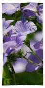 Purple Flowers Bath Towel