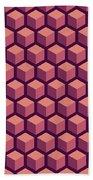 Purple Hexagonal Pattern Bath Towel