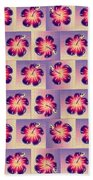 Purple Hibiscus Pattern Bath Towel