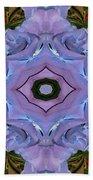 Purple Hydrangea Flower Abstract Bath Towel