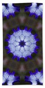Purple Iris Kaleidoscope Bath Towel