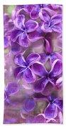 Purple Lilacs Bath Towel