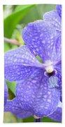 Purple Mokara Orchid Bath Towel