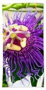 Purple Passion Flower Bath Towel