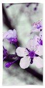 Purple Pink Blossoms Bath Towel