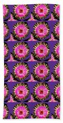 Purple Pink Flower Pattern Decoration Background Designs  And Color Tones N Color Shades Available F Bath Towel