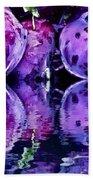Purple Rutabagas Reflect  Bath Towel