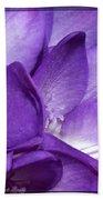 Purple Springtime Bath Towel