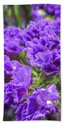 Purple Statice Flower Arrangement Bath Towel