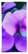 Purple Sweet Peas Bath Towel