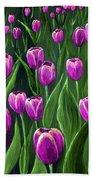 Purple Tulip Field Bath Towel