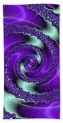 Purple Vortex Bath Towel