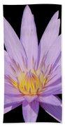 Purple Water Lily Bath Towel