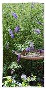Purple Wild Flowers 1 Bath Towel
