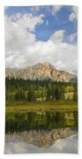 Pyramid Mountain And Cottonwood Slough Bath Towel
