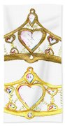 Queen Of Hearts Crown Tiara By Kristie Hubler Bath Towel