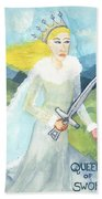 Queen Of Swords Bath Towel