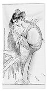 Queen Victoria Sketch Bath Towel