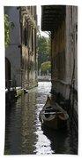 Quiet Canal In Venice Bath Towel