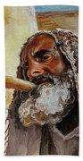 Rabbi Blowing Shofar Bath Towel